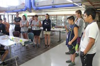 students watch test run of project at boces summer steam academy