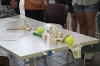closer shot of a project at boces summer steam academy