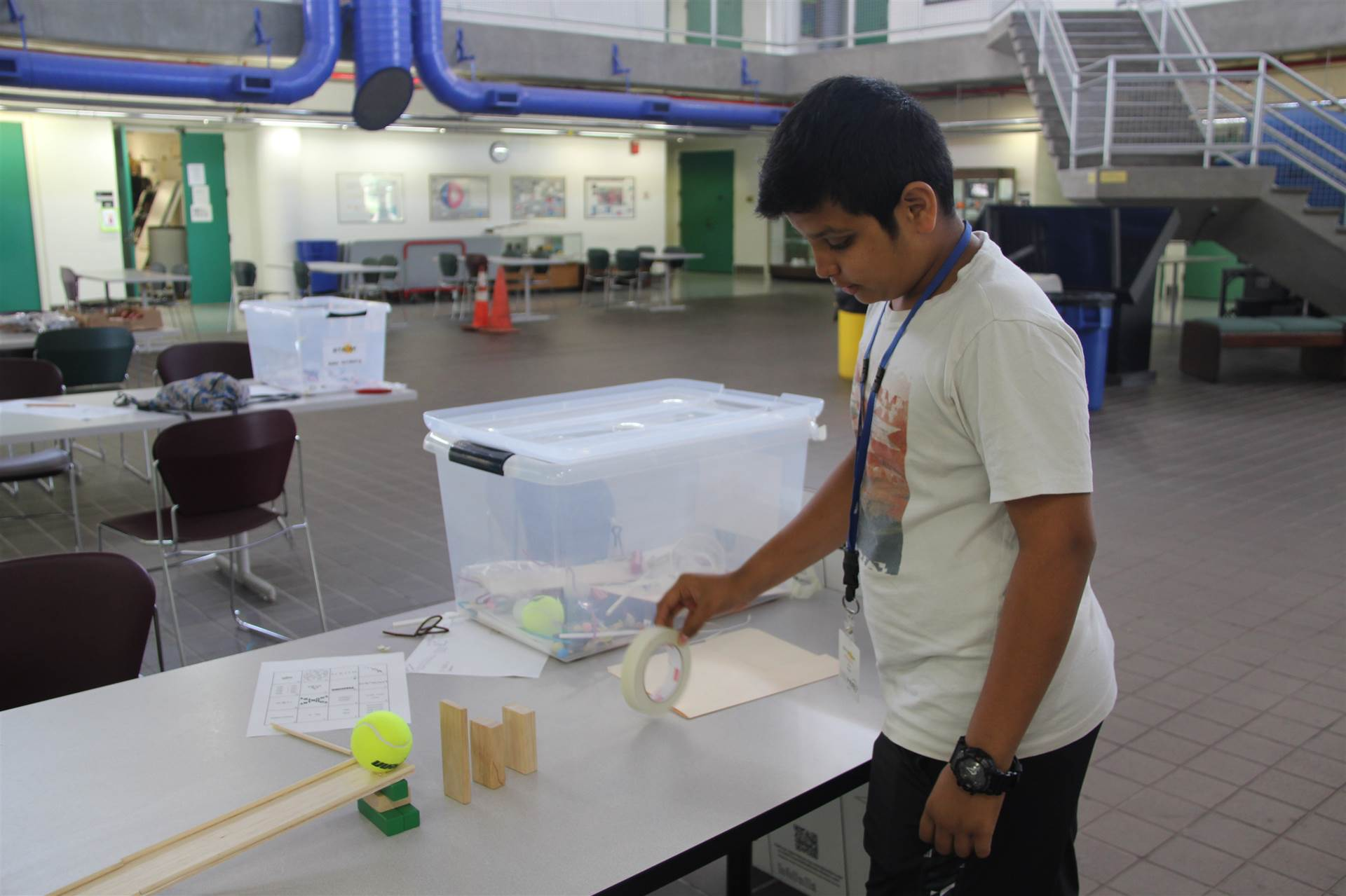 student tests project at boces summer steam academy