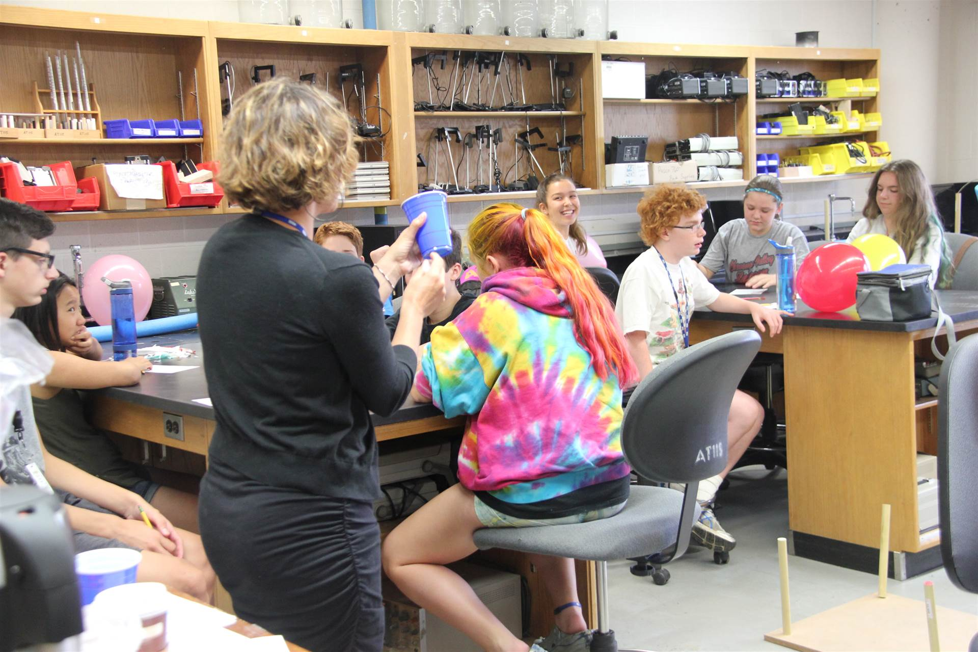 wide shot of a classroom at boces summer steam academy