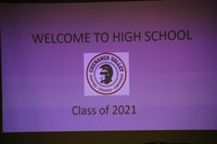 sign that says welcome to high school class of 2021