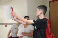 upcoming freshman take a selfie as part of scavenger hunt