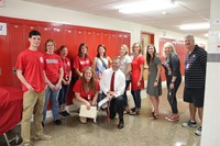 some of the staff at the chenango valley middle school orientation
