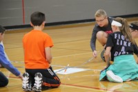 students work intently in writing challenge