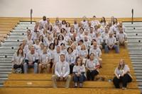 group photo of c v high school staff