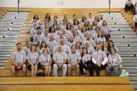 group photo of chenango valley middle school staff