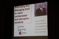power point slide for opening day keynote speaker brian mendler called motivating and managing hard