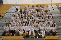 group photo of port dickinson elementary staff