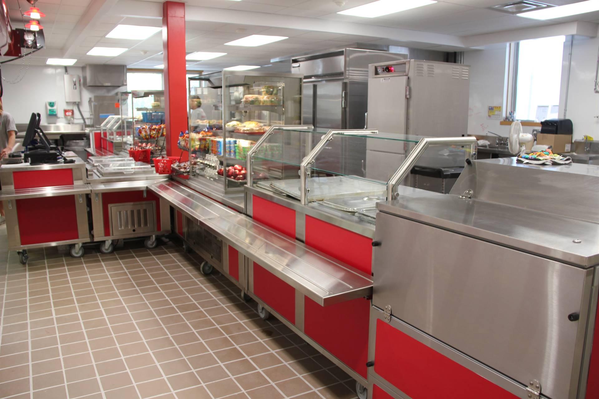 renovated chenango bridge cafeteria kitchen