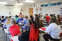 mrs henyan teaches middle school french class