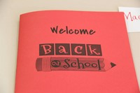 booklet that reads welcome back 2 school