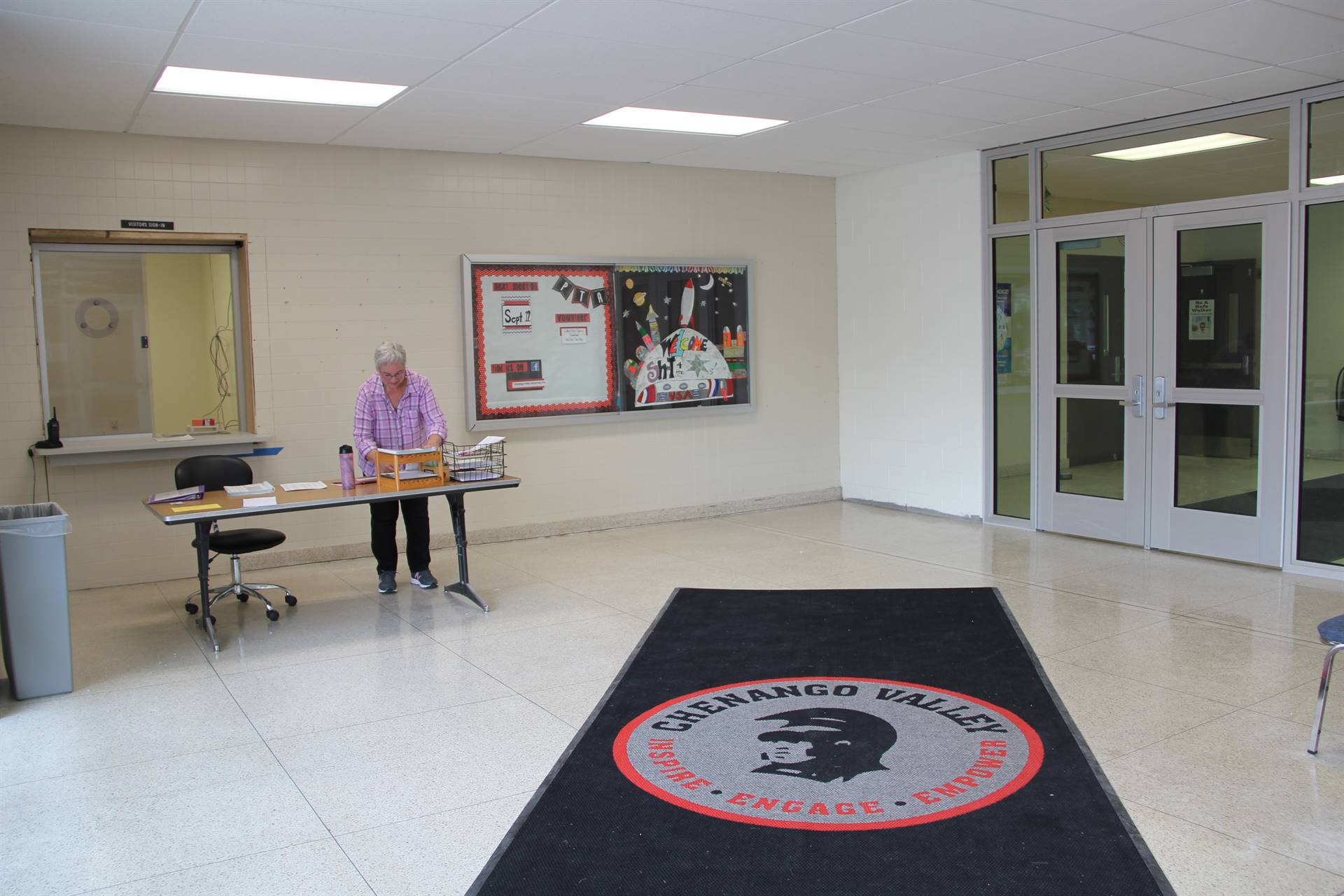 new security vestubile at port dickinson elementary