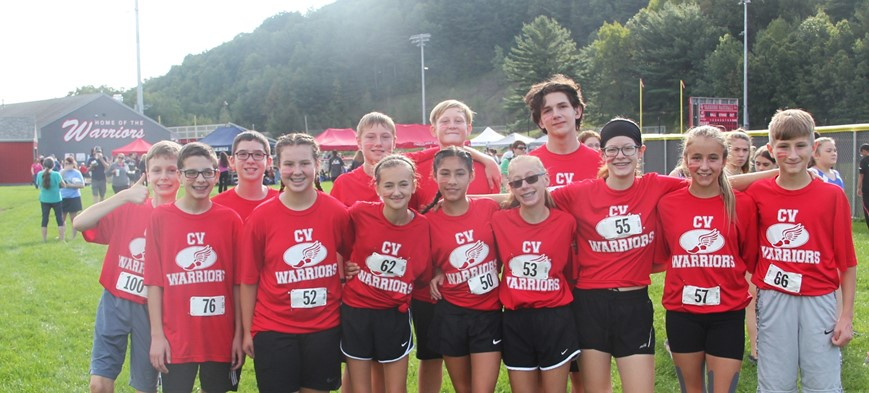 students at cross country invite