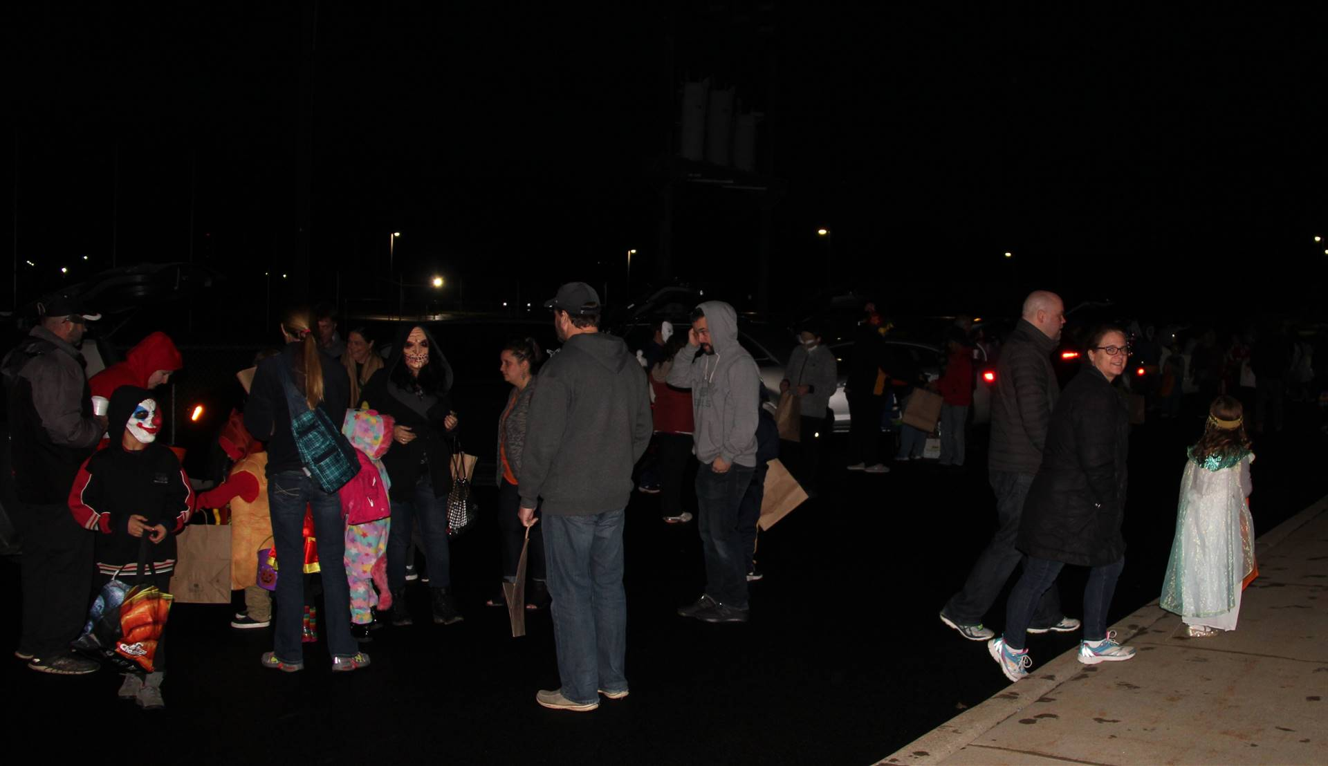 people at trunk or treat event