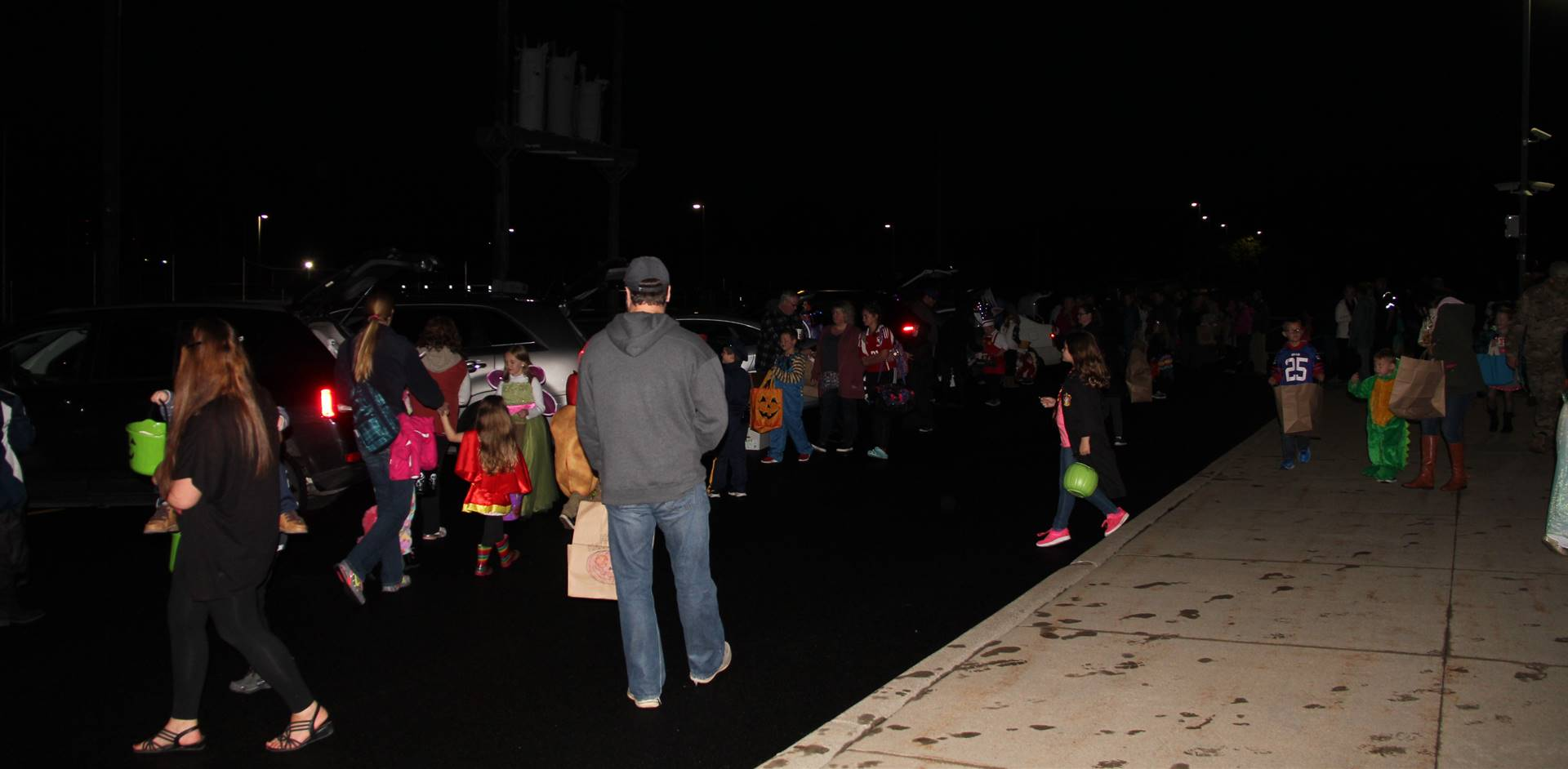 people taking part in trunk or treat