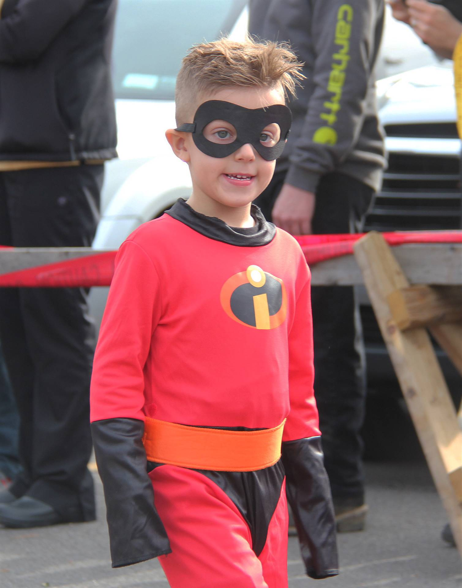 student wearing halloween costume