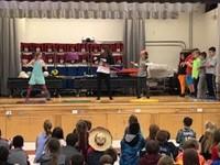 students hula hooping