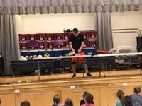 teacher setting up contest