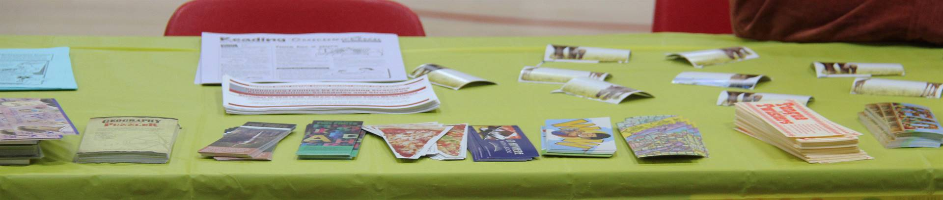 bookmarks on table