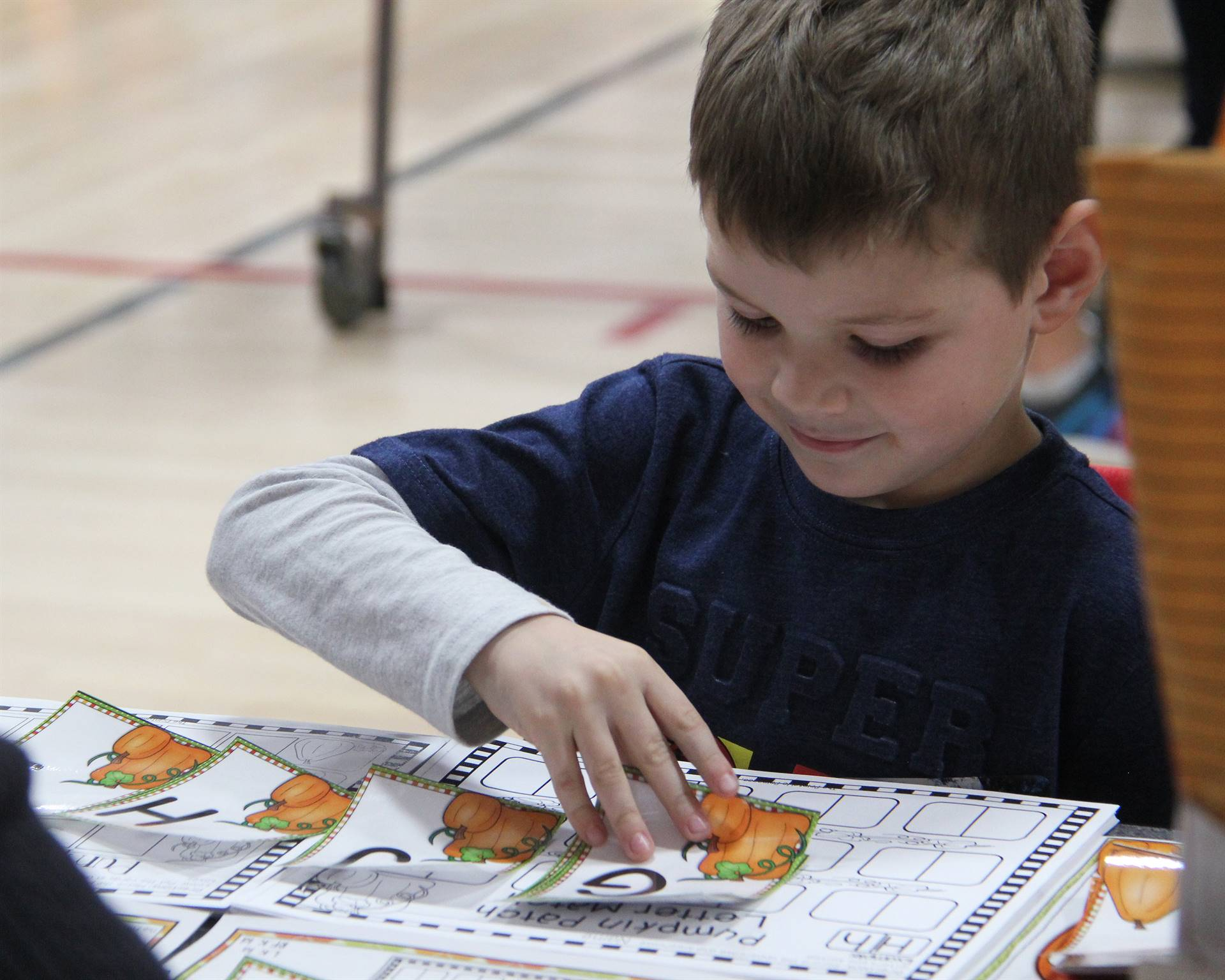 student taking part in learning activity