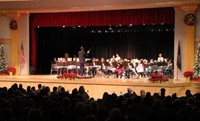 wide shot of seventh and eighth grade band