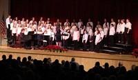 medium shot of sixth grade chorus