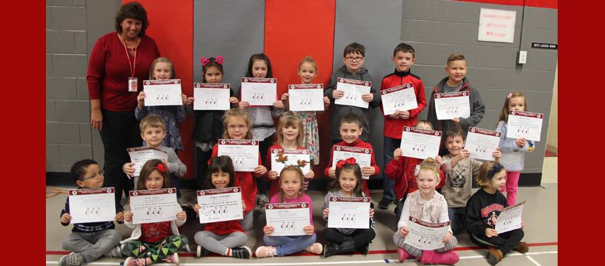 December morning program recognition recipients