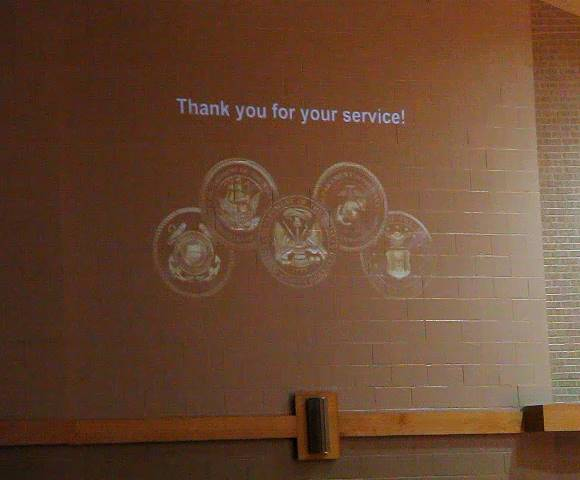 thank you for your service projection
