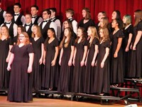 students singing in chorus