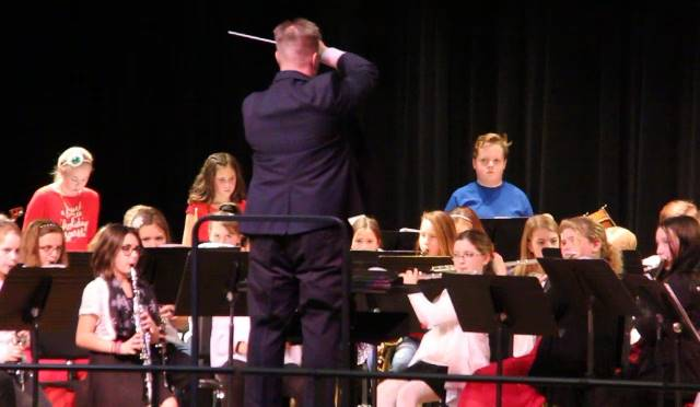 conductor leading band students