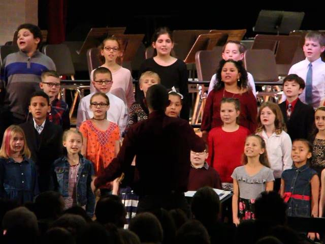 students singing at winter concert