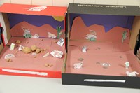 two completed desert habitat shoe boxes