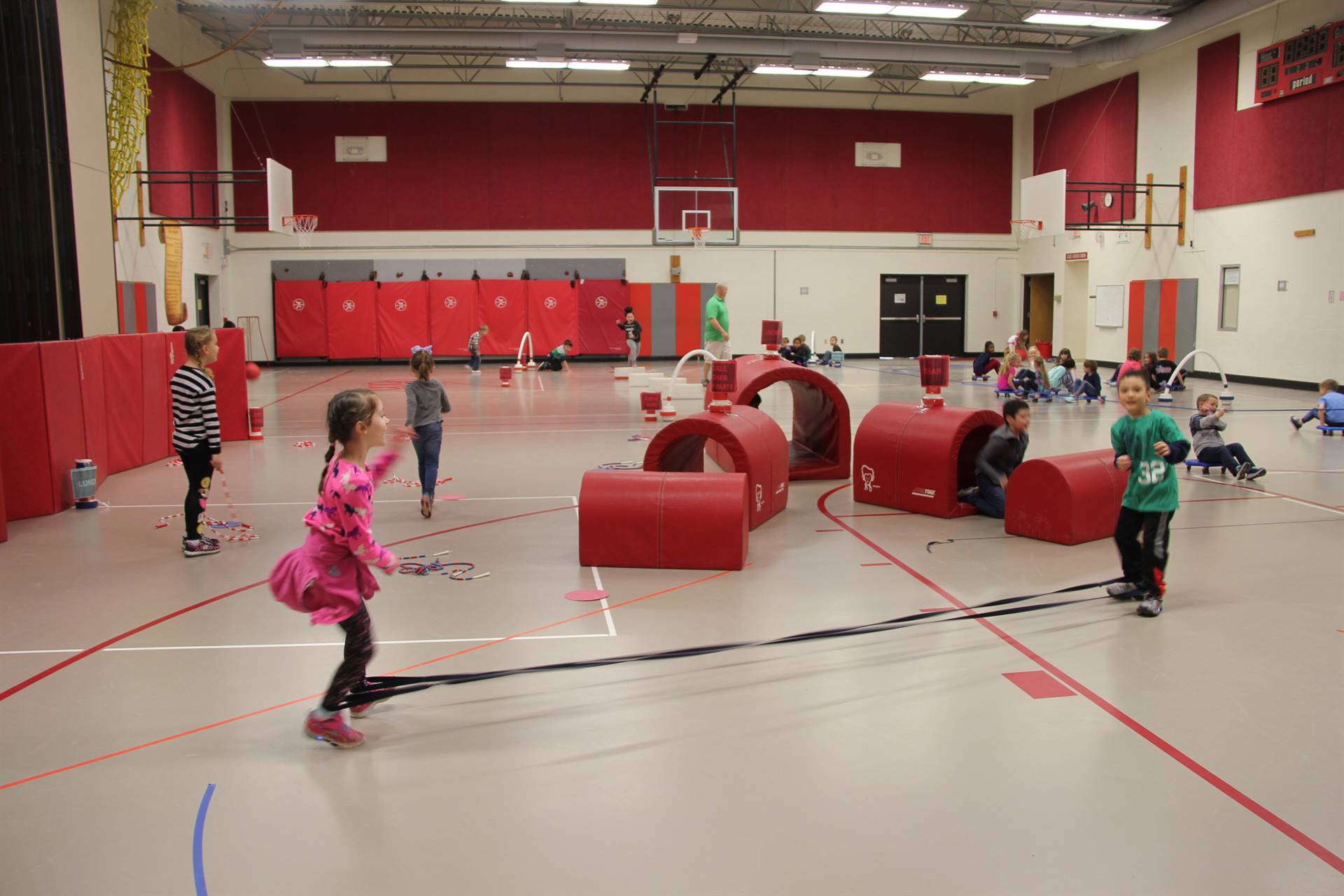 students participating in physical education heart unit 19