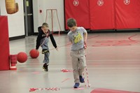 students participating in physical education heart unit 16