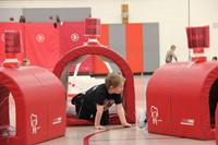 students participating in physical education heart unit 15