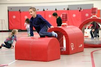 students participating in physical education heart unit 13