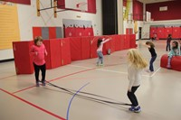 students participating in physical education heart unit 12