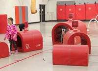 students participating in physical education heart unit 8