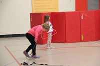 students participating in physical education heart unit 7