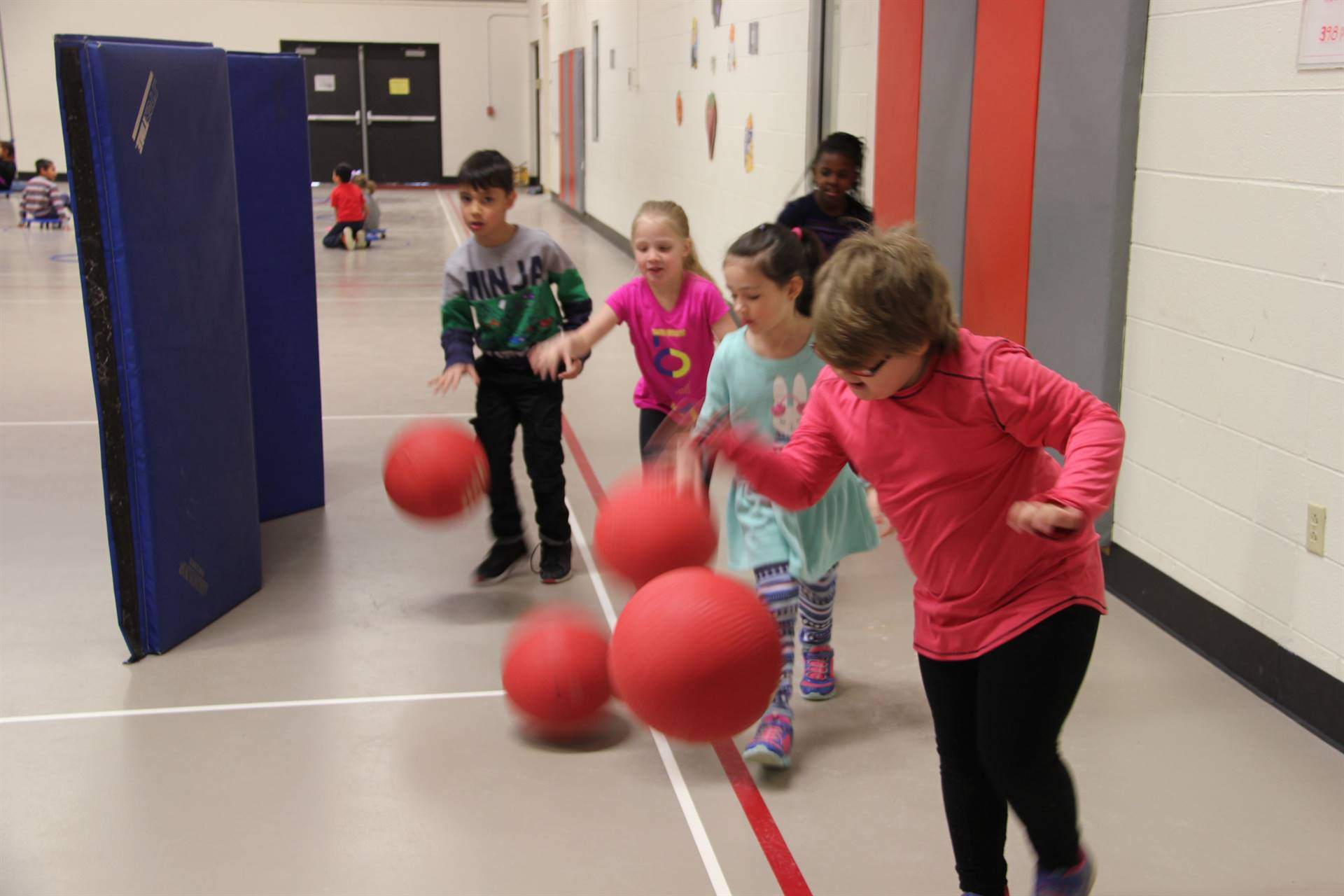 students participating in physical education heart unit 2