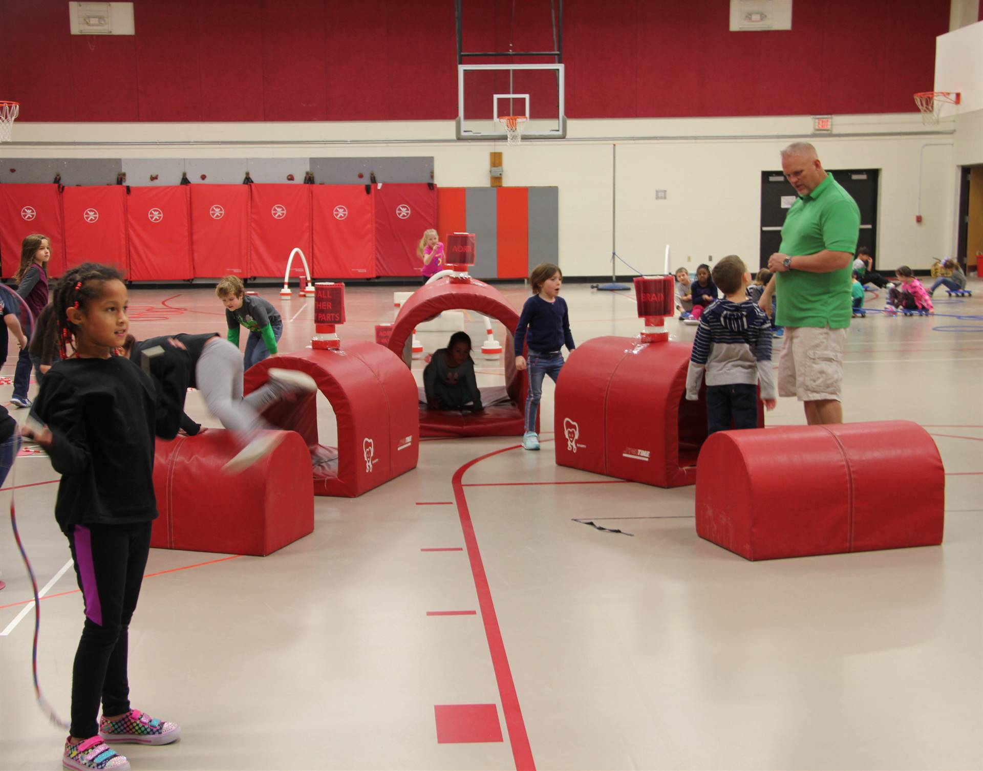 students participating in physical education heart unit 11