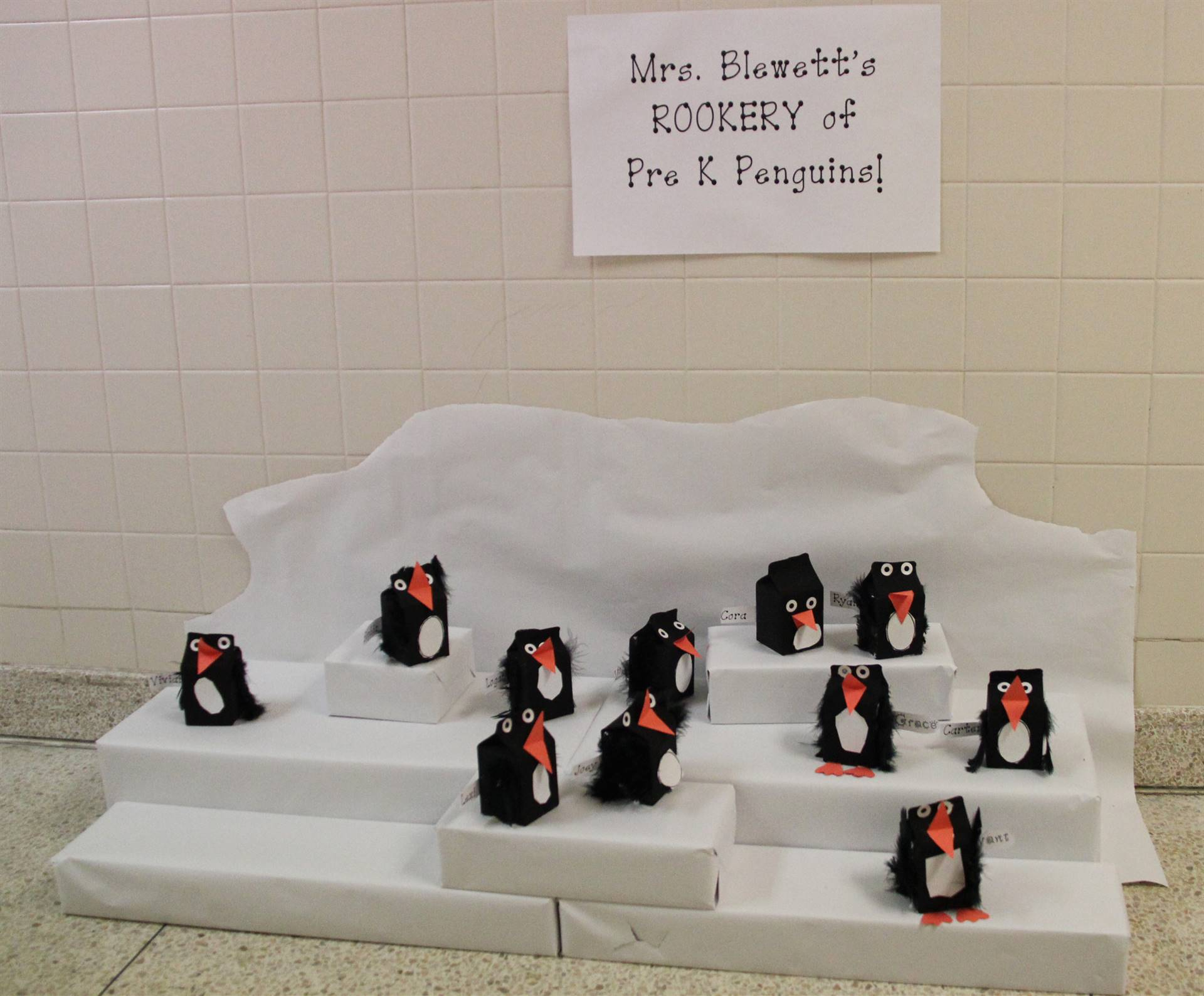 penguins made from milk cartons