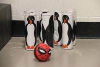 Penguin bowling pins