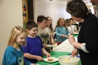teachers serving students taco ingredients 4