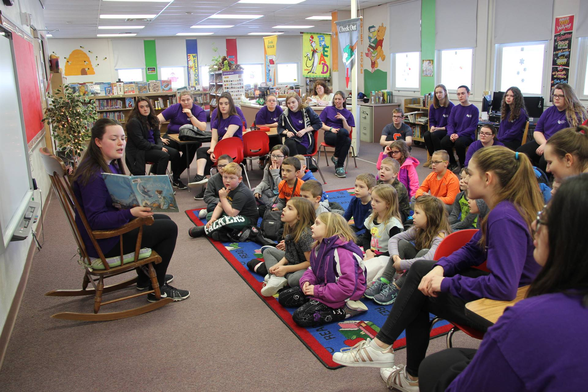 Cinderella cast visits Port Dickinson Elementary 12