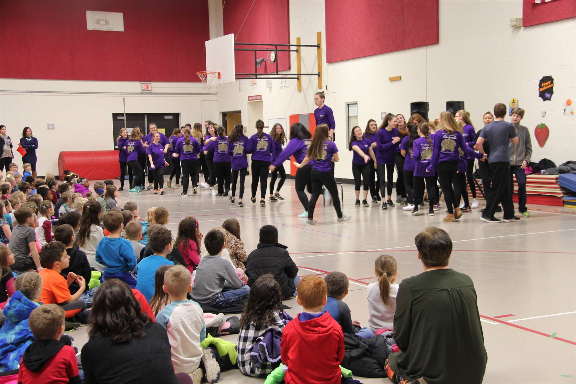 Cinderella cast visits Port Dickinson Elementary 3