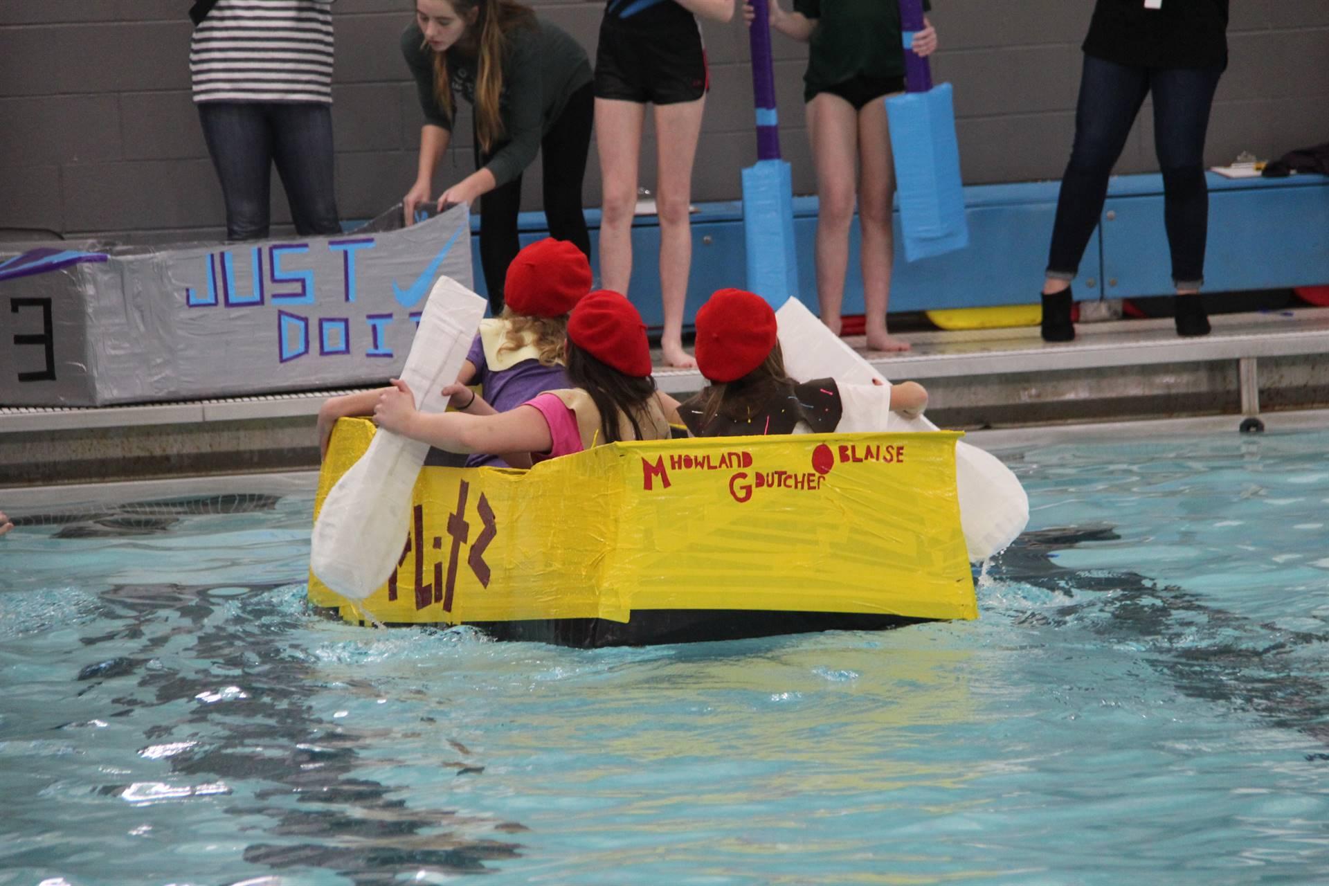 Middle School Cardboard Boat Races 81