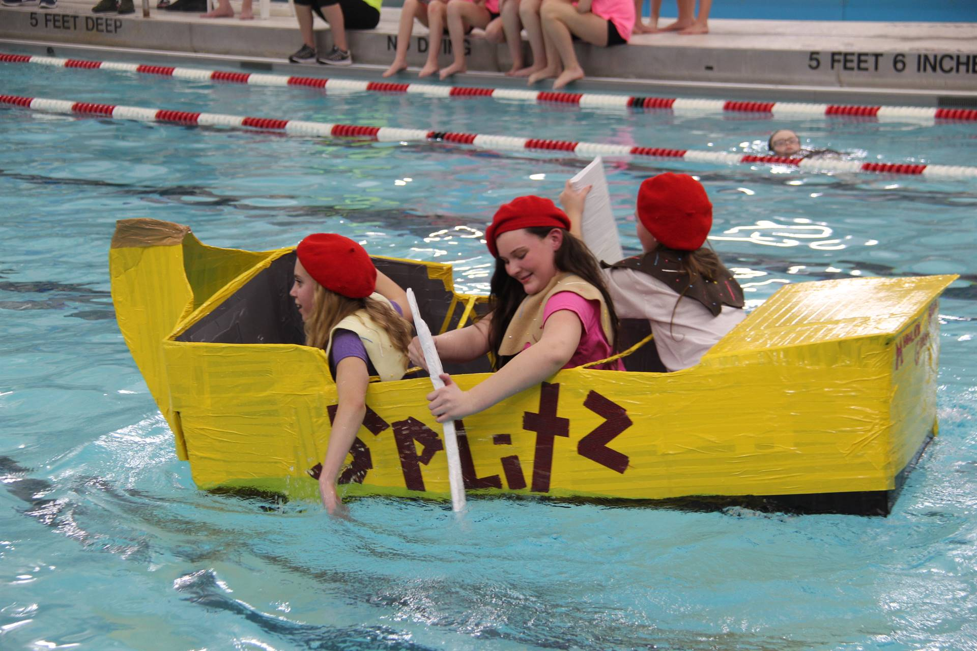 Middle School Cardboard Boat Races 80