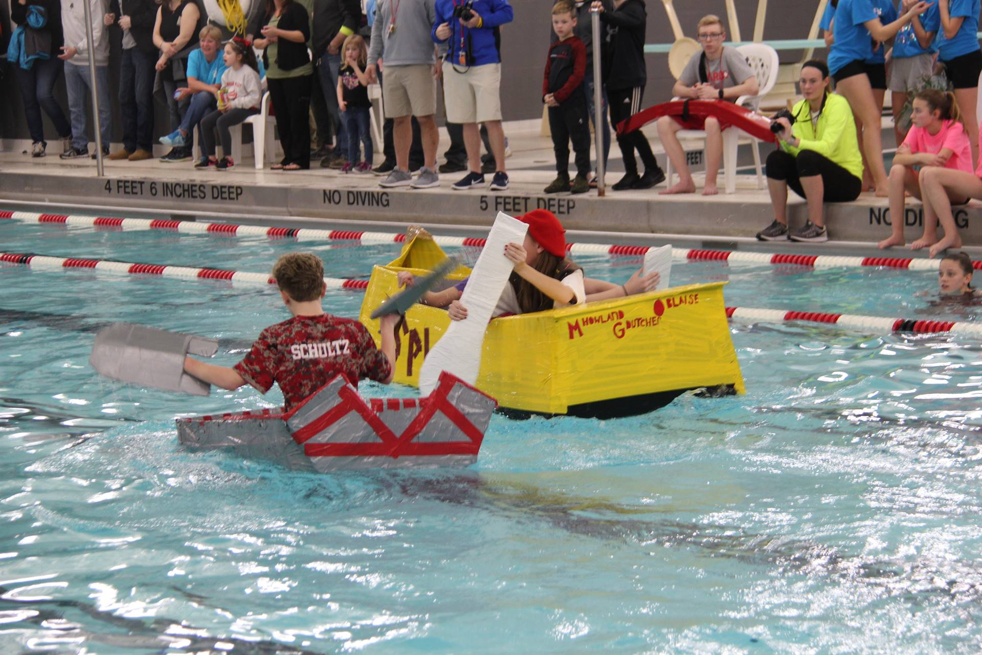 Middle School Cardboard Boat Races 78