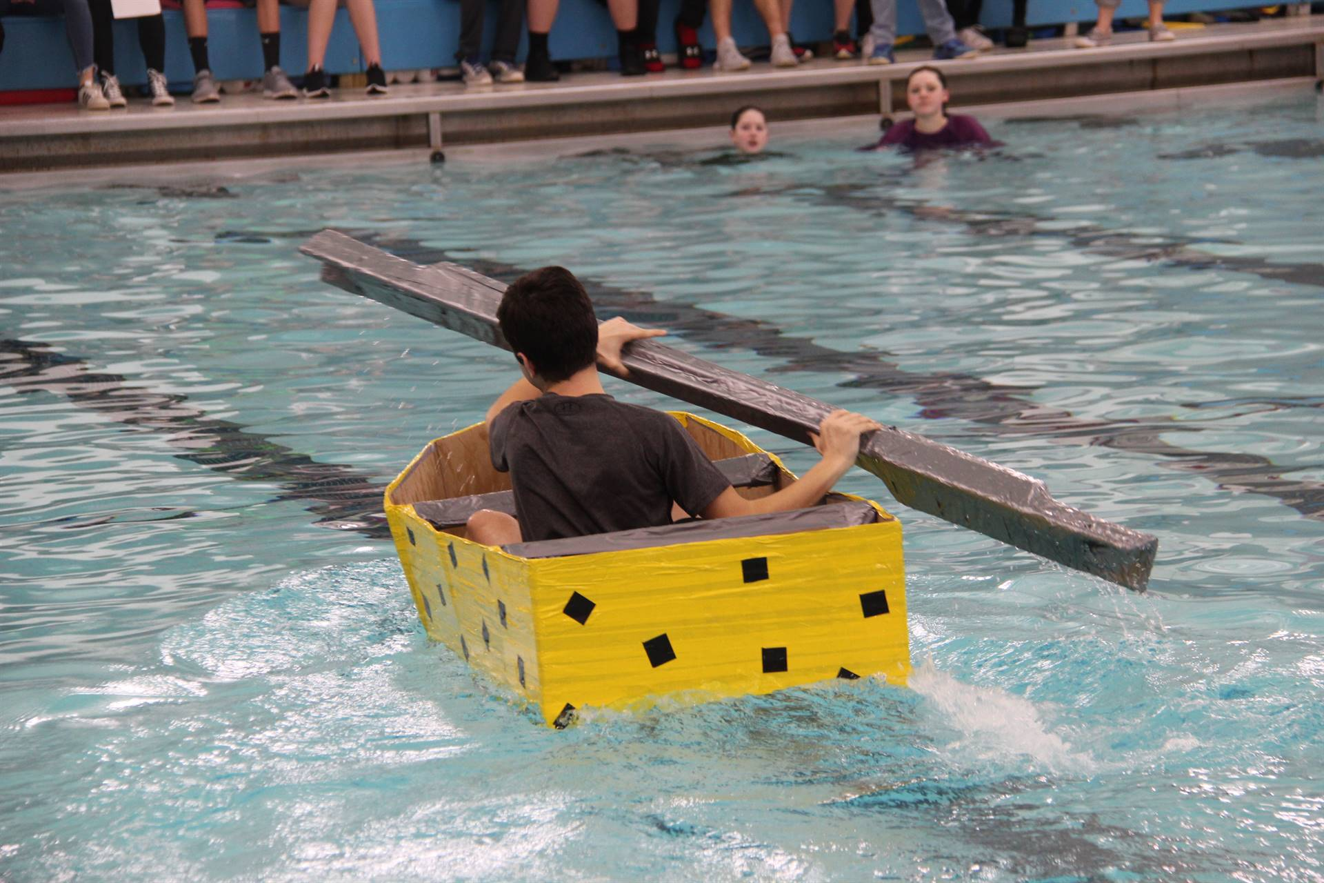 Middle School Cardboard Boat Races 66